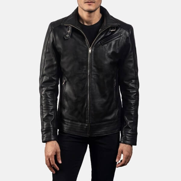 Men's Legacy Black Biker Jacket