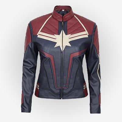 Captain Marvel Carol Danvers Leather 2019 Jacket