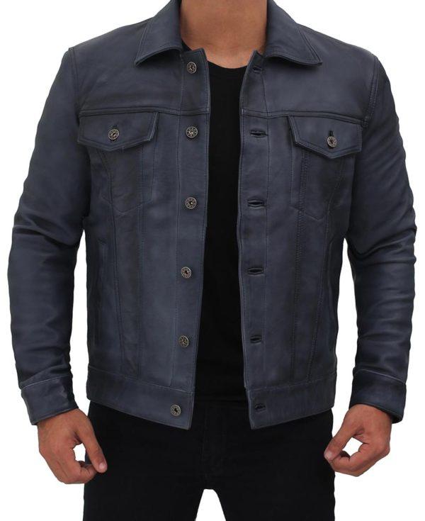 Grayish Blue Trucker Jacket