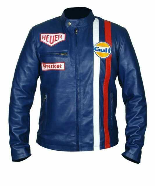 Steve McQueen Le Mans Gulf Racing Blue Jacket