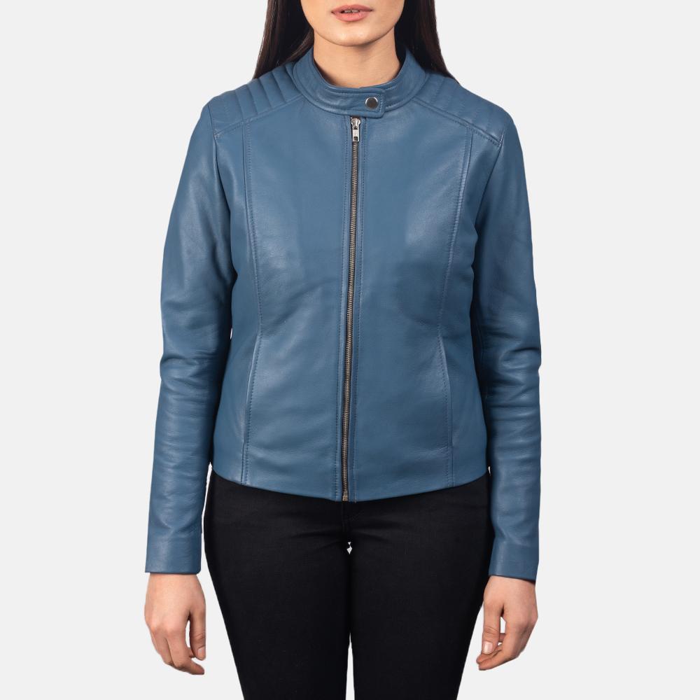 Kelsee Blue Biker Jacket