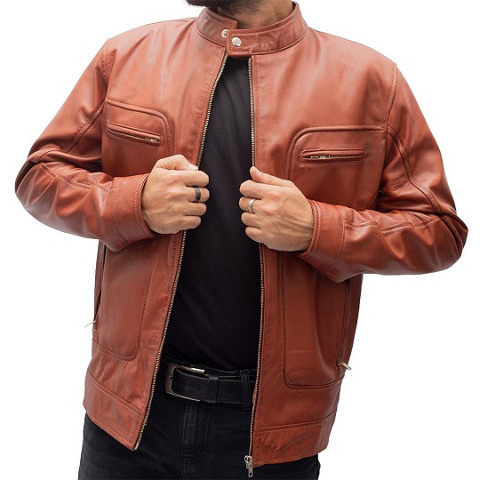 Wax Brown Leather Jacket