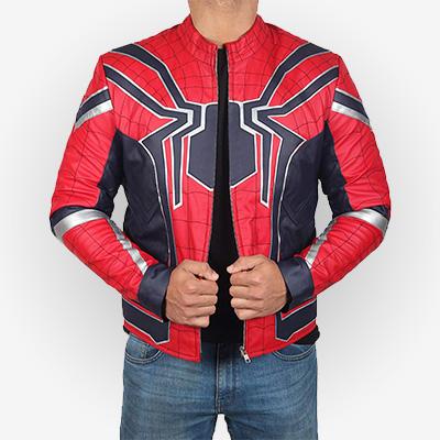 Spider-man Infinity War Leather Jacket