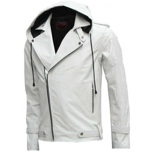 Mens Stylish White Jacket With Hood