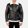 black and white fur collar jacket