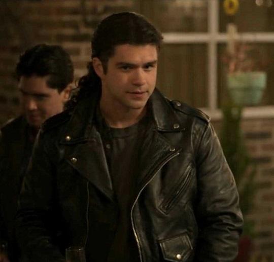 Jesse Posey Chris-Perez-Black-Leather-Jacket