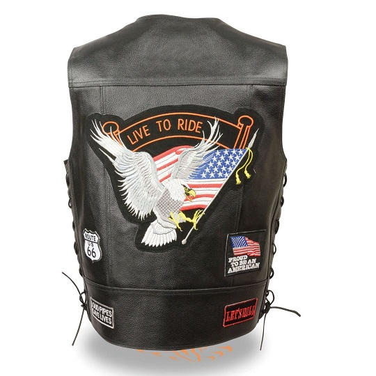 live to ride leather vest