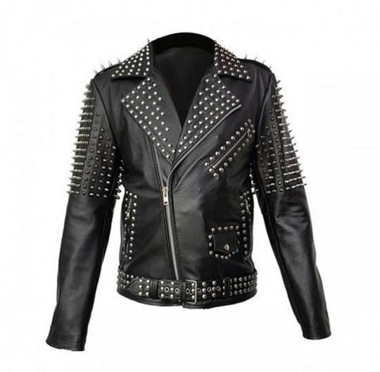 Women spice Buckle Belt Leather Jacket