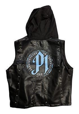 AJ STYLES P1 BLACK CAROLINA BLUE WWE AUTHENTIC VEST