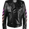 Arrows-printed-leather-jacket