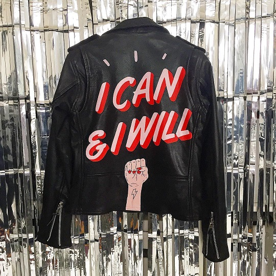 i can and i will women empowerment jacket