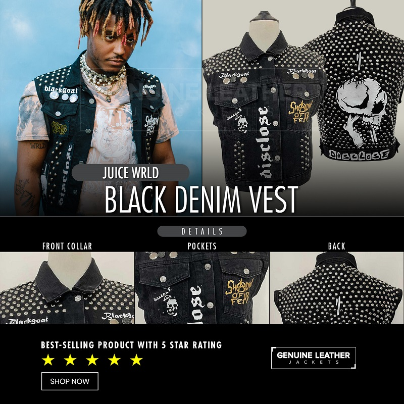 Juice wrld Black Vest
