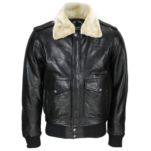 US Air Pilot Bomber White Fur Collar Jacket