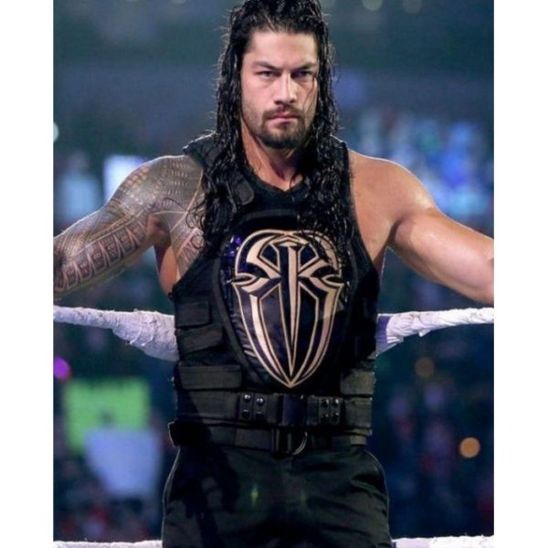 WWE ROMAN REIGNS LEATHER VEST FOR SALE FOR MENS