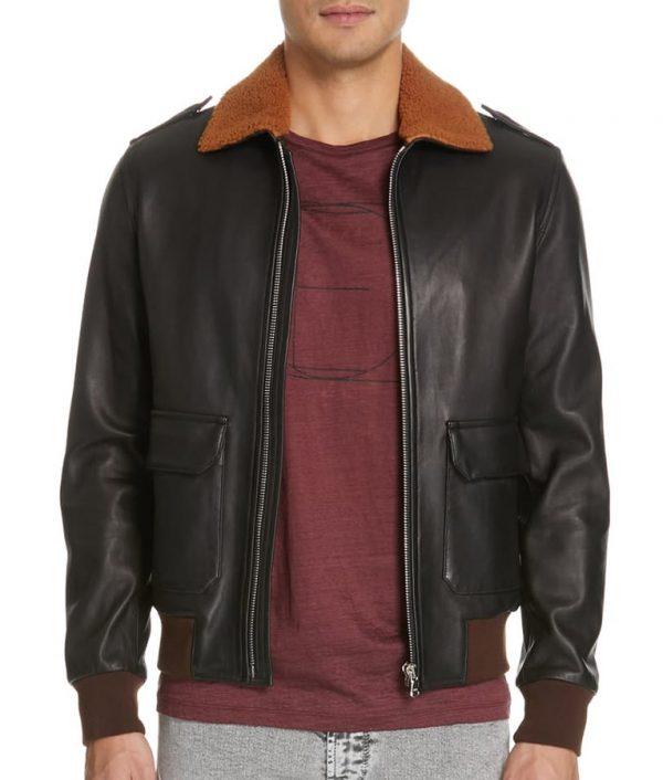 Angelo Black Aviator Jacket