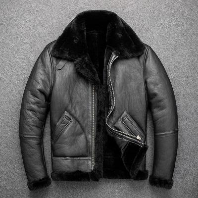 Charcoal Grey B-3 Sheepskin Jacket