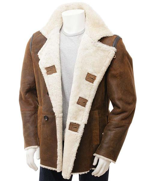 Jonathan Brown Shearling Aviator Coat