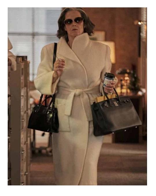 My Salinger Year 2021 Sigourney Weaver White Coat