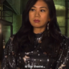 Melody Chu The Equalizer Silk-Blend Butterfly Dress
