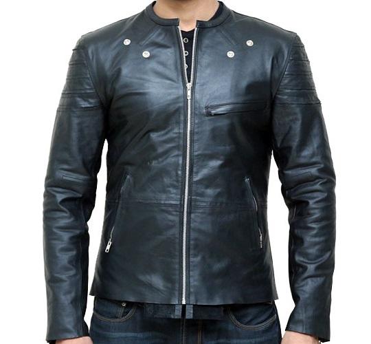 Men's Skinny Black Leather Jacket