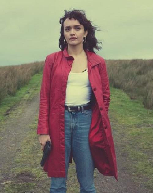 Pixie Olivia Cooke Leather Coat