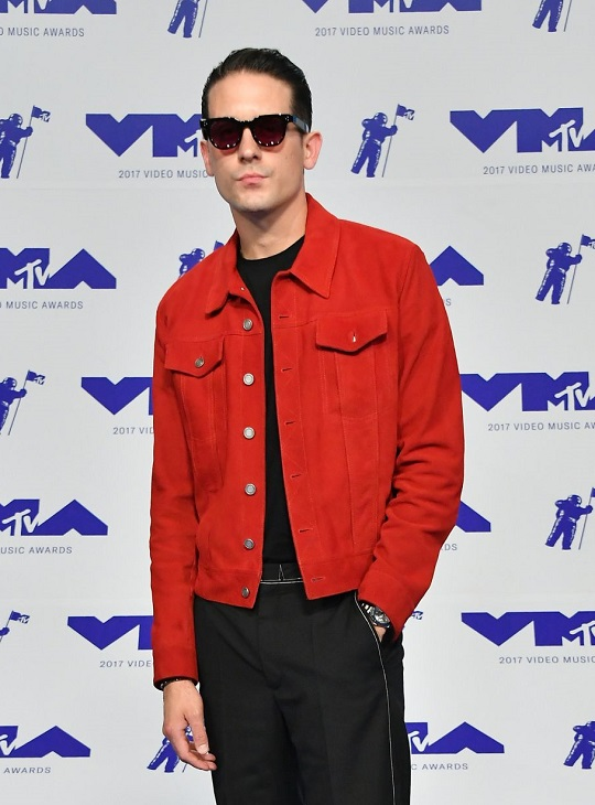 American Rapper G-Eazy Red Suede Leather Jacket