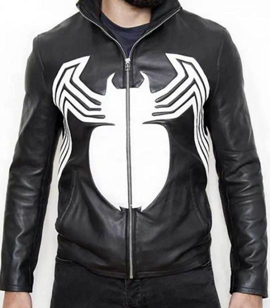 Spiderman Eddie Brock Venom Leather Jacket