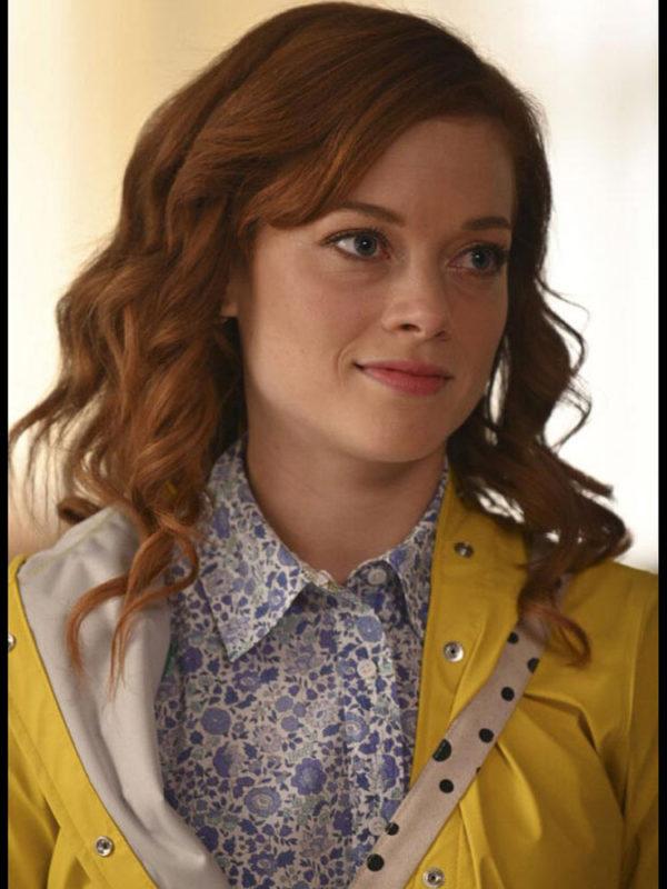 Zoey's Extraordinary Playlist Zoey Clarke Yellow Raincoat with Hood