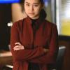 The Blacklist S08 Alina Park Maroon Coat