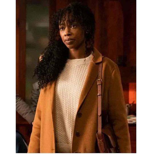 The Equalizer 2021 Fedna Jacquet Wool Coat