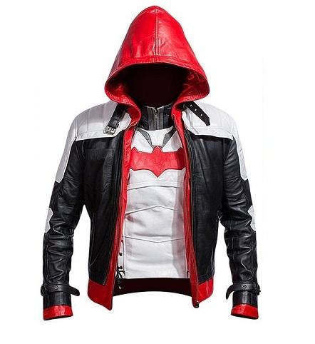 Batman Arkham Knight Jason Todd Red Hood Leather Jacket