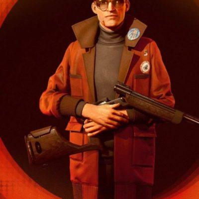 Deathloop Egor Serling Red Leather Coat