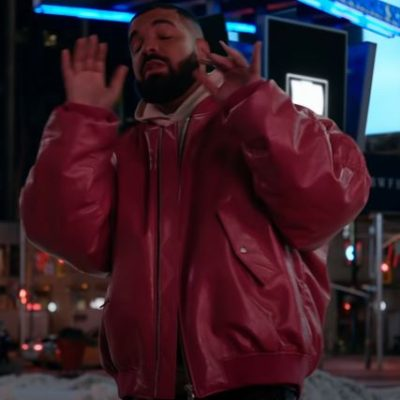 Drake What's Next Red Leather Jacket