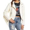 Fringe Faux Leather Crop Moto Jacket