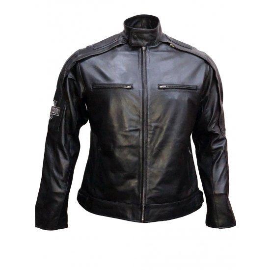 Harley Davidson Reflective Willie G Skull Mens Leather Jacket