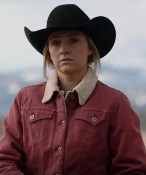 Heartland Amy Fleming Shearling Jacket