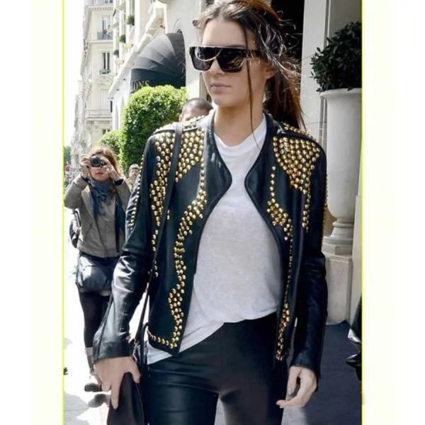 Kendall Jenner Studded Biker Jacket