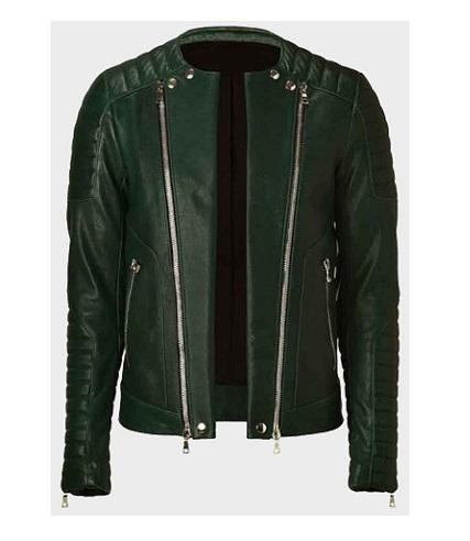 Kid Cudi Green Leather Jacket