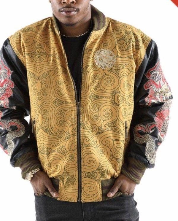 Men's Pelle Pelle Dragon Heart Wheat Jacket