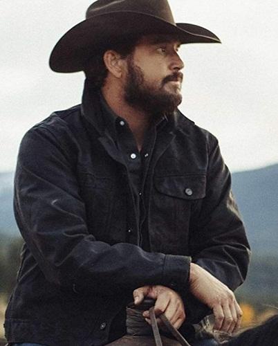 Rip Wheeler Yellowstone Season 4 Leather Jacket