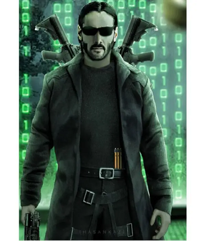The Matrix 4 Neo Keanu Reeves Black Coat