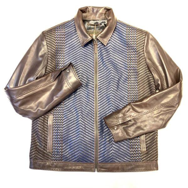 PelleSi Chocolate Blue Bomber Jacket