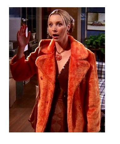 Friends Phoebe Buffay Lisa Kudrow Orange Fur Coat