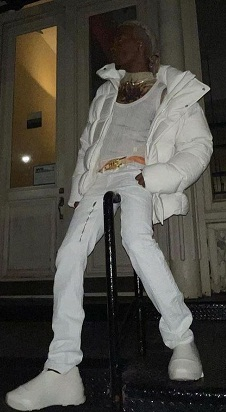Playboi Carti Givenchy White Puffer Jacket