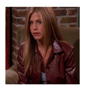 Friends Rachel Green's Wine Leather Jacket