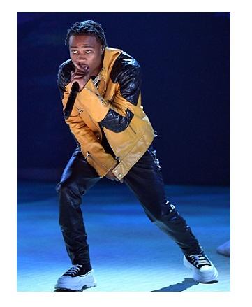 Grammys 2021 Roddy Rich Leather Jacket