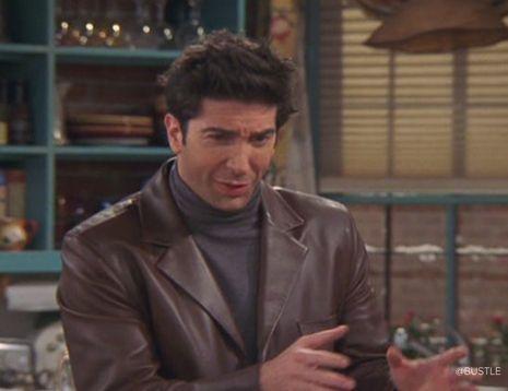 Friends Ross Geller David Schwimmer Brown Leather Jacket