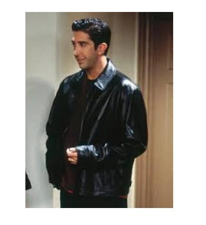 Friends Ross Geller Black Leather Jacket