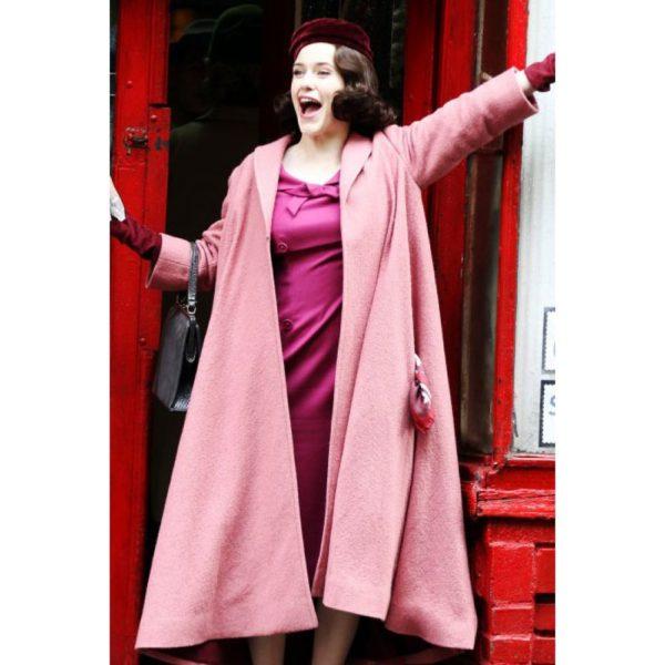 The Marvelous Mrs. Maisel Rachel Brosnahan Pink Coat