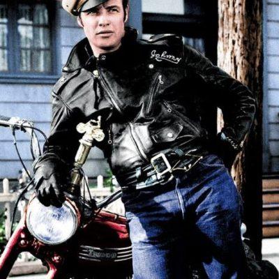 The Wild One Marlon Brando BRMC Leather Jacket